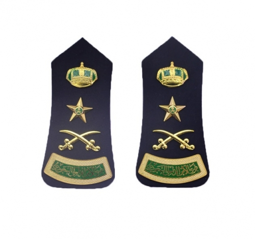 Exquisite Army Star Rank KSA Shoulder Boards Officer Uniform Epaulette