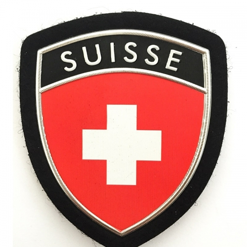 Customized Suisse PVC Plastic Flag Arm Shoulder Patch