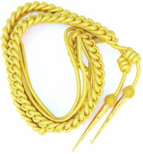 Army gold aiguillette british officer shoulder cord