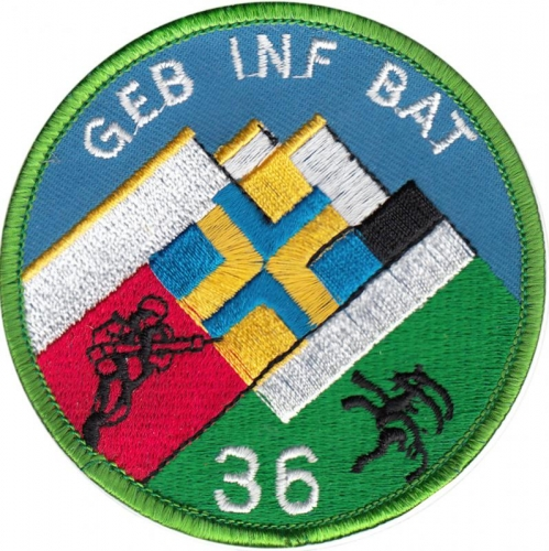 PATCH OF THE 36TH SWISS GROUND INFANTRY BATTALION