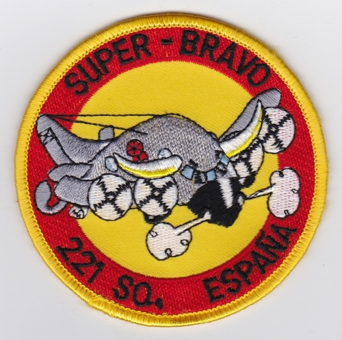 Spanish Patch Air Force Ejercito Del Aire 221 Escuadron P 3B ASW