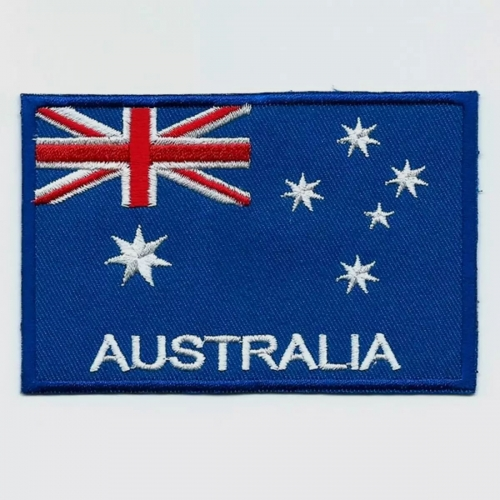 Australia flag embroidered patches