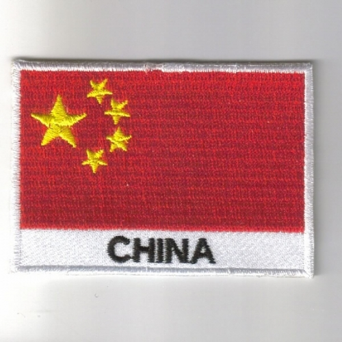 China flag embroidered patches