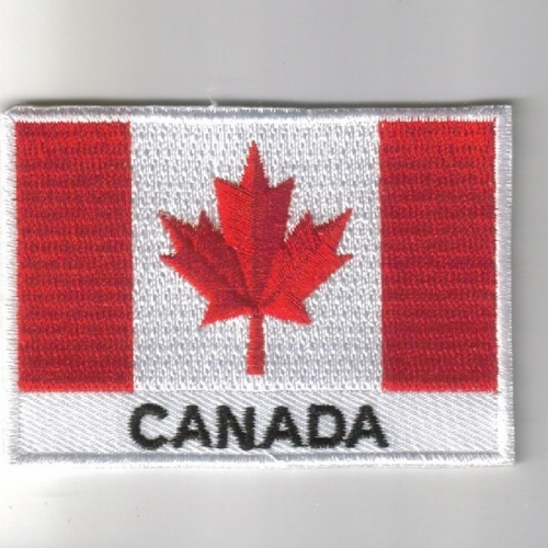 Canada flag embroidered patches