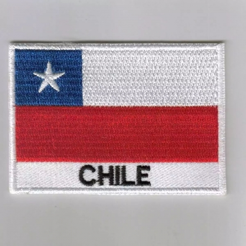 Chile flag embroidered patches