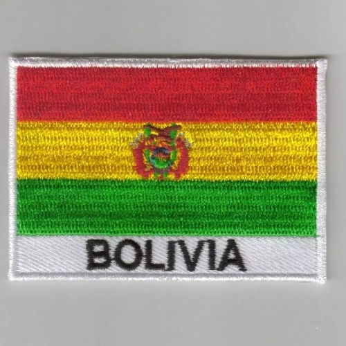 Bolivia flag embroidered patches