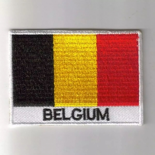Belgium Embroidered Flag patch