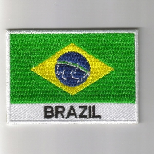 Brazil flag embroidered patches