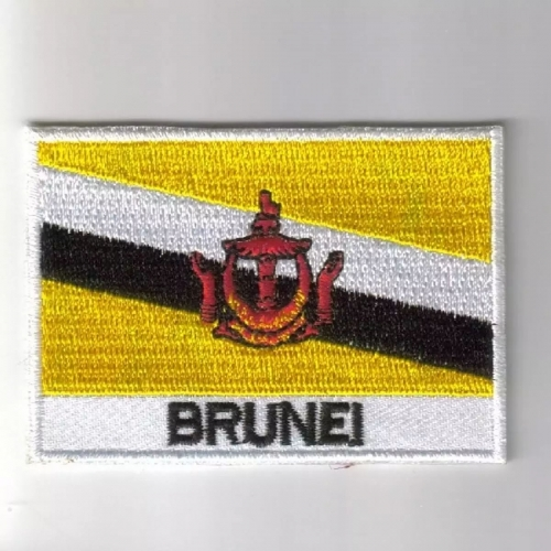 Brunei flag embroidered patches