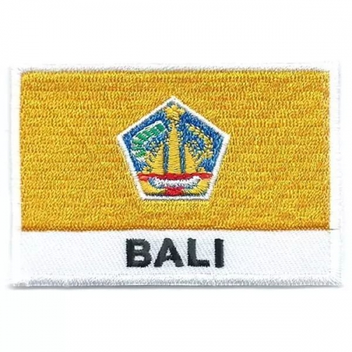 Bali flag embroidered patches