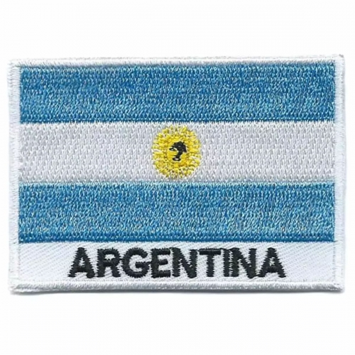 Argentina flag embroidered patches