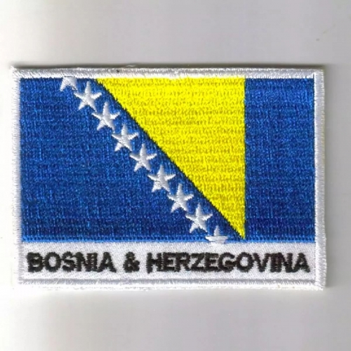 Bosnia flag embroidered patches