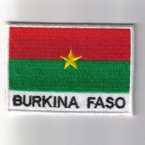Burkina flag embroidered patches