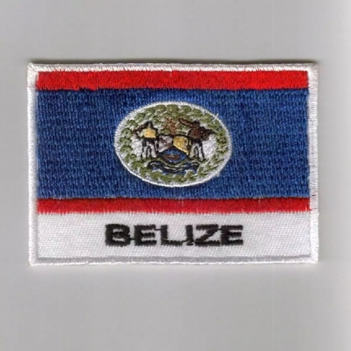 Belize flag embroidered patches