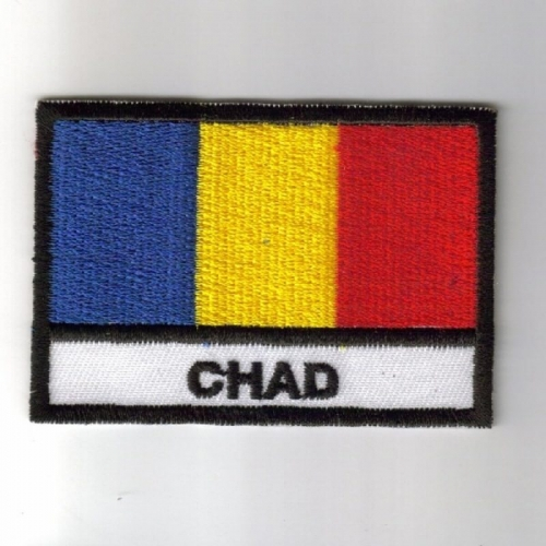 Chad flag embroidered patches
