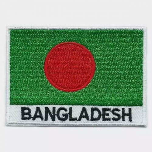 Bangladesh flag embroidered patches