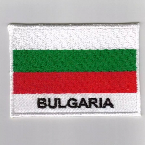 Bulgaria country flag embroidered patches