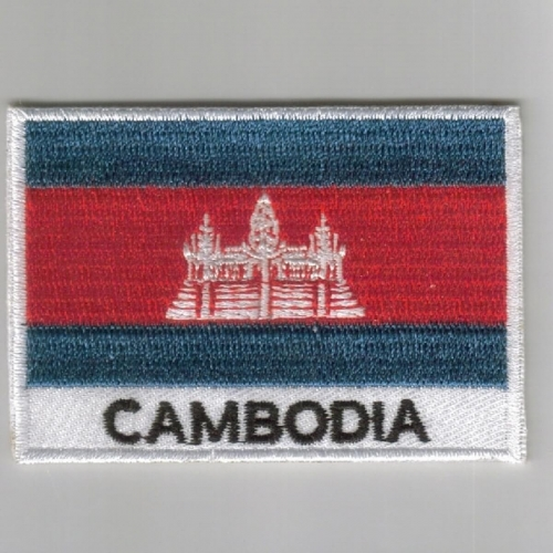 Cambodia flag embroidered patches